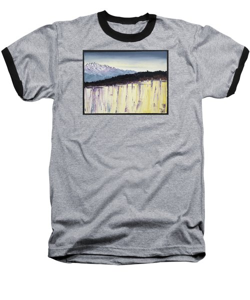 The Bluff And The Mountains Baseball T-Shirt by Carolyn Doe