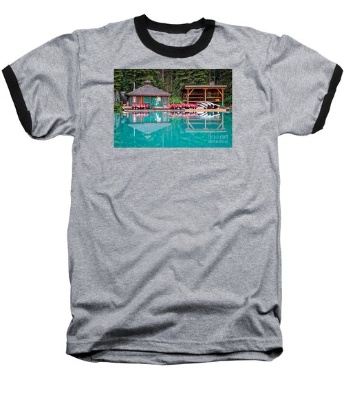 The Boat House At Emerald Lake In Yoho National Park Baseball T-Shirt