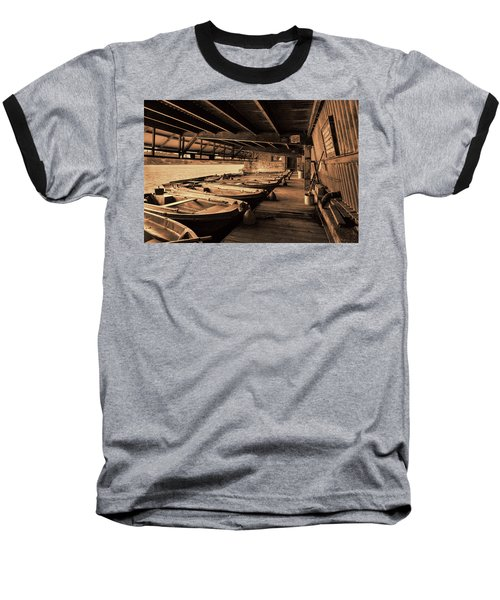 Baseball T-Shirt featuring the photograph The Boat House  by Scott Carruthers
