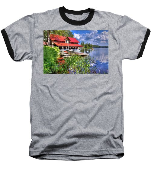 Baseball T-Shirt featuring the photograph The Boathouse At Covewood by David Patterson