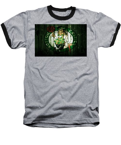 The Boston Celtics 5d Baseball T-Shirt by Brian Reaves