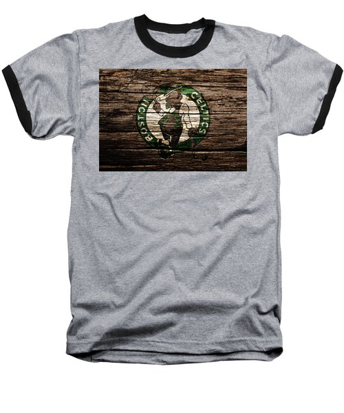 The Boston Celtics 6e Baseball T-Shirt by Brian Reaves
