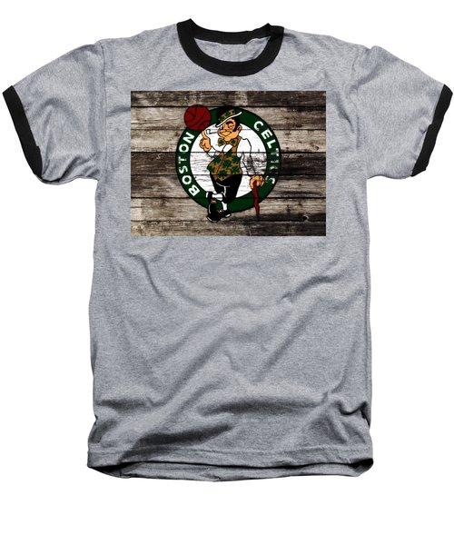 The Boston Celtics W10 Baseball T-Shirt by Brian Reaves