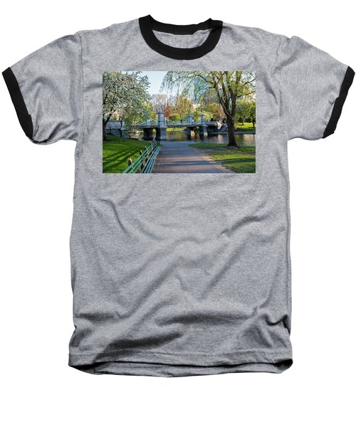 The Boston Public Garden In The Spring Boston Ma Baseball T-Shirt