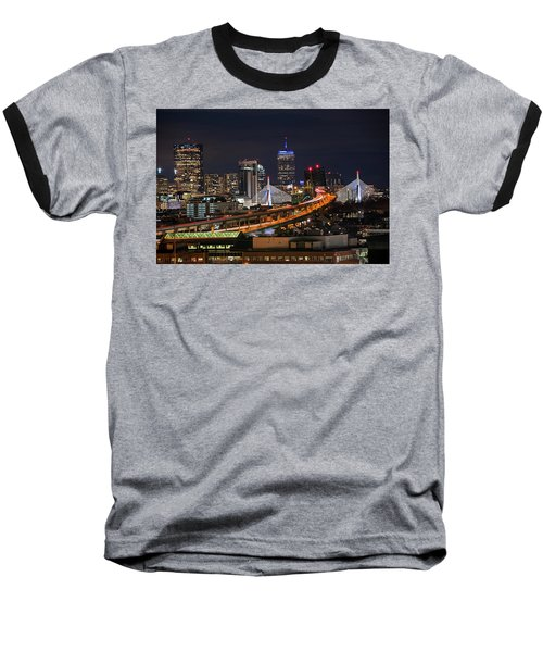The Boston Skyline Boston Ma Full Zakim Baseball T-Shirt