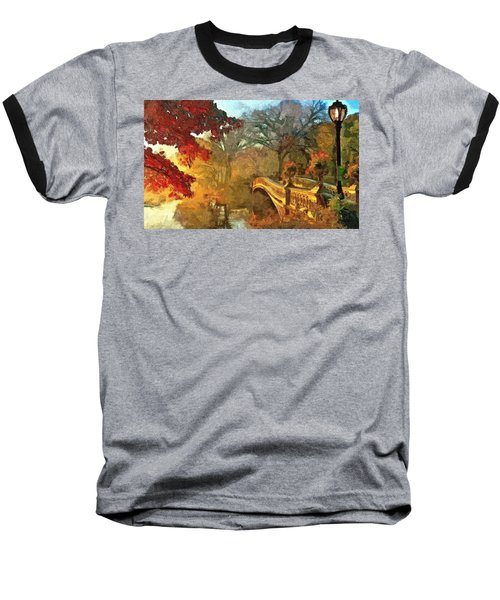 The Bow Bridge Nyc  Baseball T-Shirt