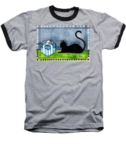 The Box Is Mine - Christmas Cat Baseball T-Shirt