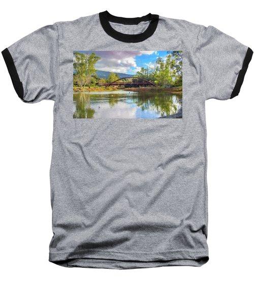 The Bridge At Vasona Lake Digital Art Baseball T-Shirt
