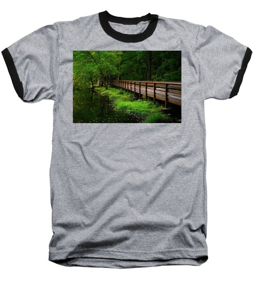 Baseball T-Shirt featuring the photograph The Bridge At Wolfe Park by Karol Livote