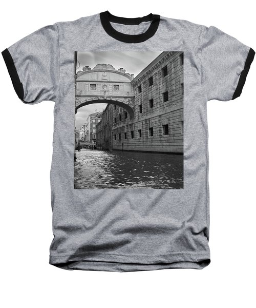 Baseball T-Shirt featuring the photograph The Bridge Of Sighs, Venice, Italy by Richard Goodrich