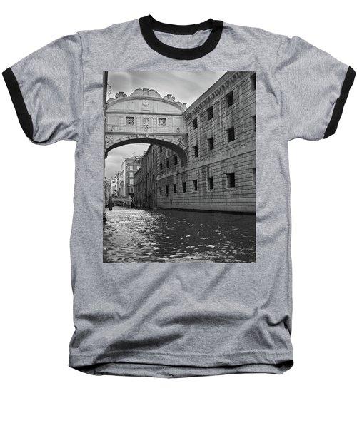 The Bridge Of Sighs, Venice, Italy Baseball T-Shirt by Richard Goodrich