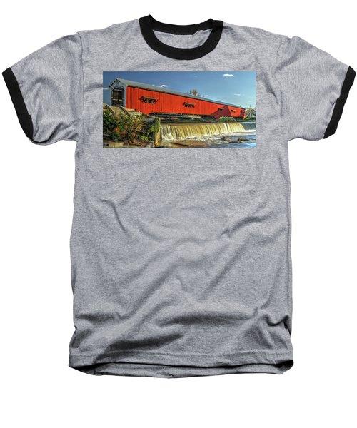 The Bridgeton Covered Bridge Baseball T-Shirt