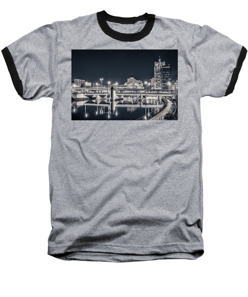 Baseball T-Shirt featuring the photograph The Bright Dark Of Night by Bill Pevlor