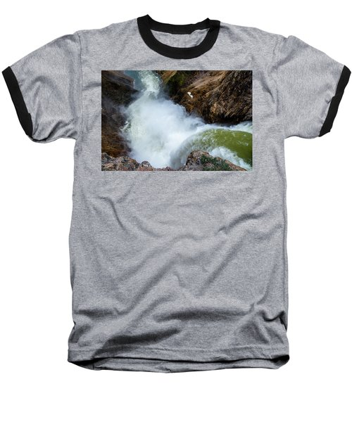 The Brink Of The Lower Falls Of The Yellowstone River Baseball T-Shirt