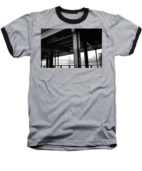 The Brooklyng Bridge And Manhattan Bridge From Fdr Drive Baseball T-Shirt