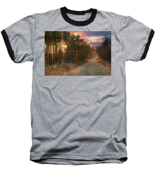 Baseball T-Shirt featuring the photograph The Brown Path Before Me by Lori Deiter