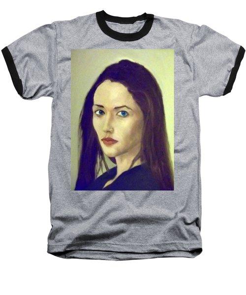 The Brunette With Blue Eyes Baseball T-Shirt