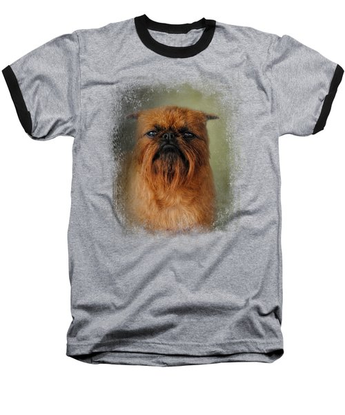 The Brussels Griffon Baseball T-Shirt by Jai Johnson
