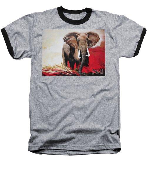 Win Win - The  Bull Elephant  Baseball T-Shirt