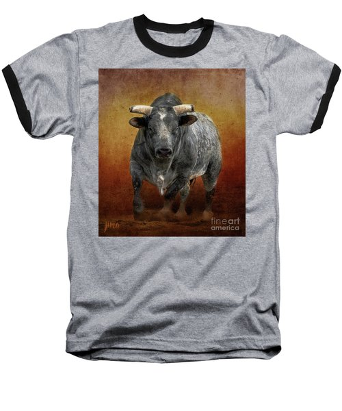 The Bull Baseball T-Shirt by Jim  Hatch