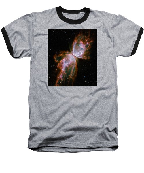 The Butterfly Nebula  Baseball T-Shirt by Hubble Space Telescope
