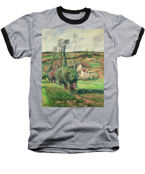 The Cabbage Slopes Baseball T-Shirt by Camille Pissarro
