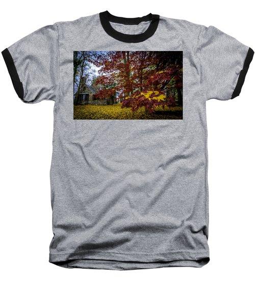 The Cabin In Autumn Baseball T-Shirt