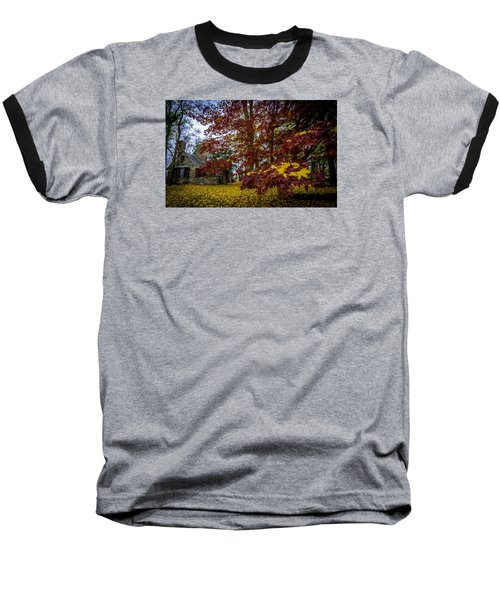 The Cabin In Autumn Baseball T-Shirt