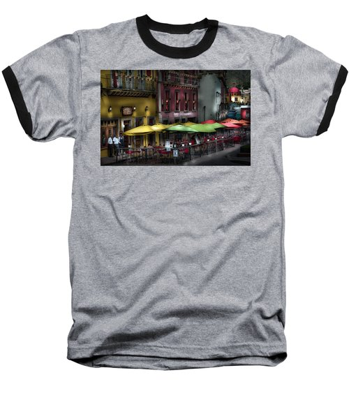 The Cafe At Night Baseball T-Shirt