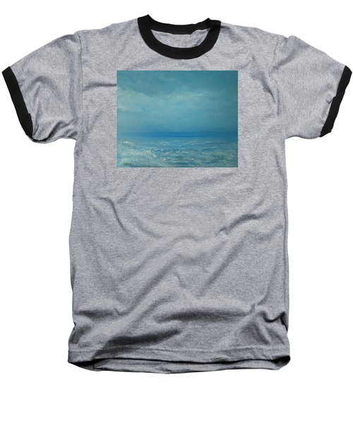 Baseball T-Shirt featuring the painting The Calm Before The Storm by Jane See