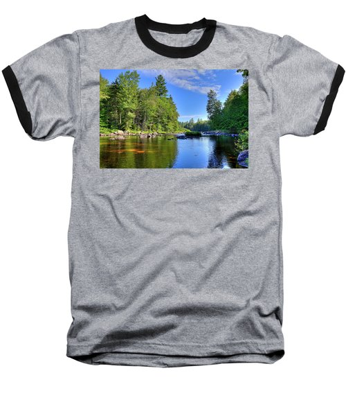 Baseball T-Shirt featuring the photograph The Calm Below Buttermilk Falls by David Patterson