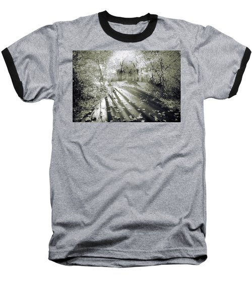 Baseball T-Shirt featuring the photograph The Calm In Shadows And Light by Tara Turner