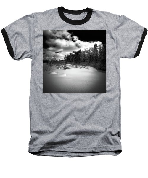Baseball T-Shirt featuring the photograph The Calm Of Winter by David Patterson