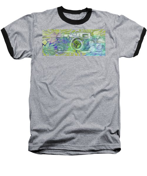 Baseball T-Shirt featuring the digital art The Camera - 02c5b by Variance Collections