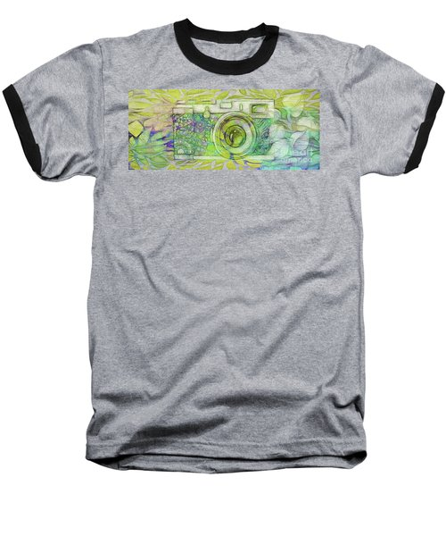Baseball T-Shirt featuring the digital art The Camera - 02c5bt by Variance Collections