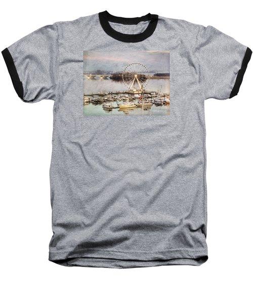 The Capital Wheel At National Harbor Baseball T-Shirt