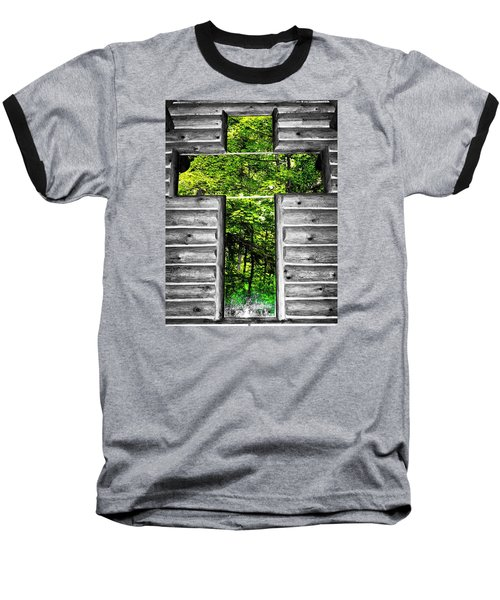 The Carpenters Cross Baseball T-Shirt by Daniel Thompson
