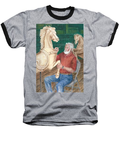 The Carver And His Horse Baseball T-Shirt