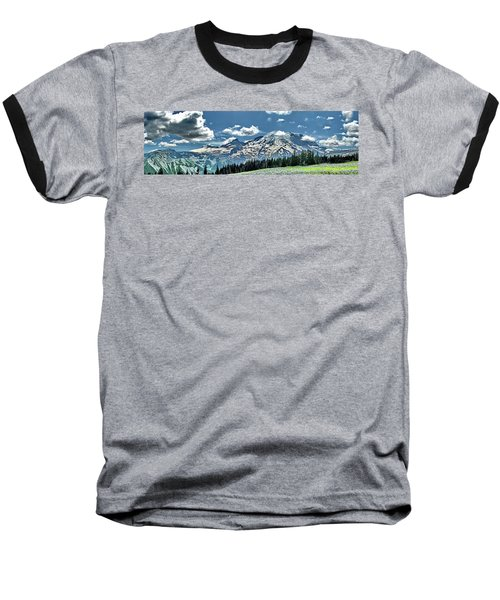 The Cascade Mountains And Mt. Rainier Baseball T-Shirt