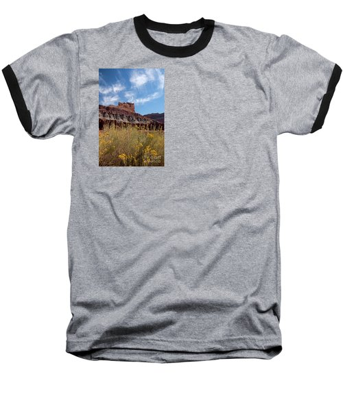 Rock Formation Capital Reef Baseball T-Shirt
