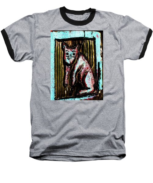 Baseball T-Shirt featuring the photograph The Cat by John King