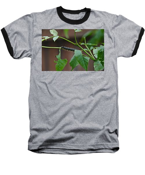 Baseball T-Shirt featuring the photograph The Caterpillar 2 by Cendrine Marrouat