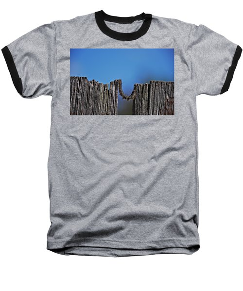 Baseball T-Shirt featuring the photograph The Caterpillar by Cendrine Marrouat