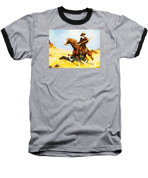 Baseball T-Shirt featuring the painting The Cavalry Scout by Al Brown