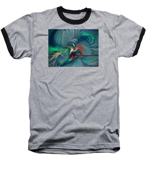 The Center Of Longing-abstract Art Baseball T-Shirt