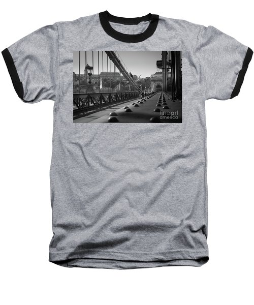 Baseball T-Shirt featuring the photograph The Chain Bridge, Danube Budapest by Perry Rodriguez
