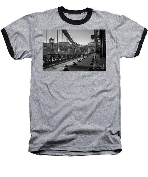 The Chain Bridge, Danube Budapest Baseball T-Shirt