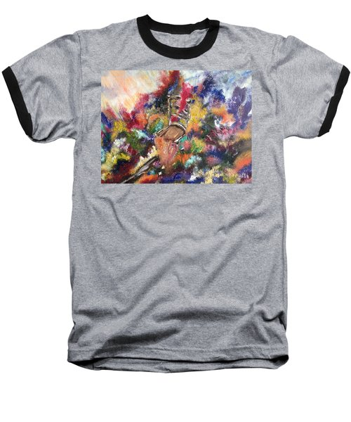Baseball T-Shirt featuring the painting The Chair  by Lori Lovetere