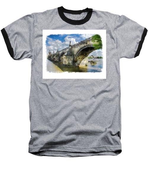 The Charles Bridge - Prague Baseball T-Shirt