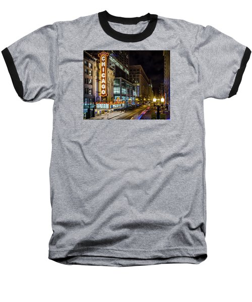 The Chicago Theatre Baseball T-Shirt